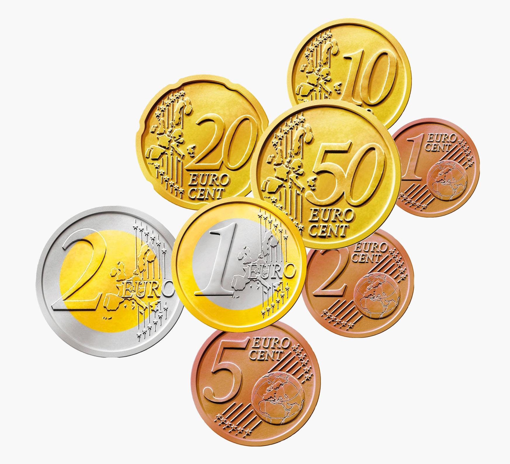 фото евро монет